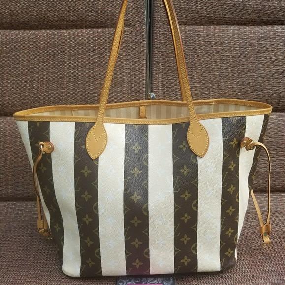 Louis Vuitton Handbags - Authentic Louis Vuitton Rayures Neverfull MM